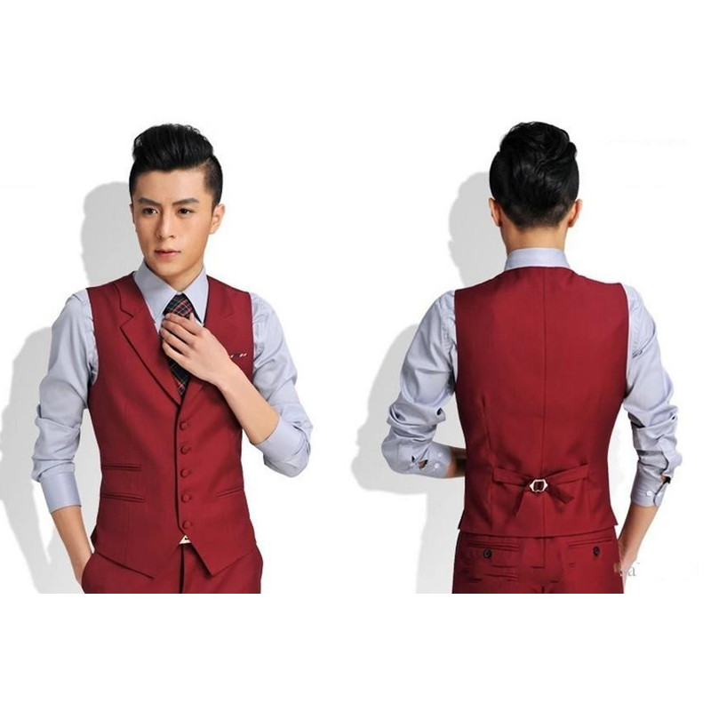 Brand New Groomsmensbest Grooms Vest Men's Vest Custom Size And Color Five Wedding Buttons / Prom / Dinner Vest