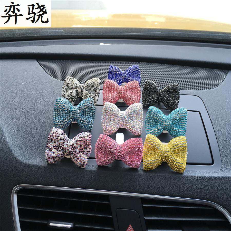 Butterfly Knot Auto perfume Exquisite car styling Air conditioner Pendant air freshener car Perfume 100 Original bowknot Clip in Air Freshener from Automobiles Motorcycles