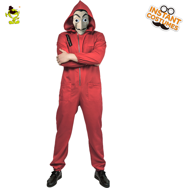 Image 2 - Adult man  Dali Movie Costume Role Play Money Heist The House of Paper La Casa Cosplay Halloween Party Costumes with Face Mask-in Holidays Costumes from Novelty & Special Use