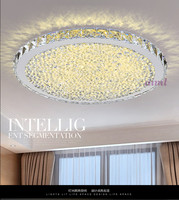 LED ceiling light Circular ring transparency/ Amber /colorful K9 crystal Living room ceiling lamp LED 110 230V free shopping
