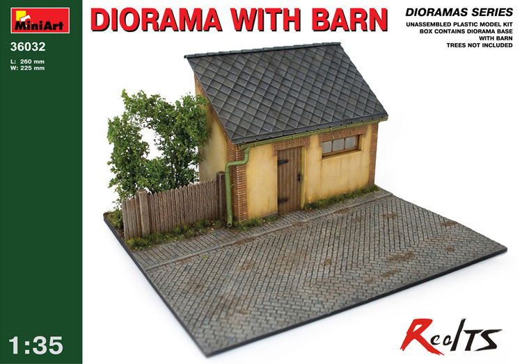 RealTS Out of print product! DIORAMA WITH BARN BUILDING 1/35 MINIART 36032