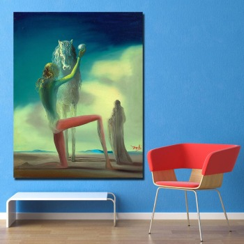Salvador Dali The Death Knight Canvas Painting For Living Room Home Decoration Oil Painting  Printing On Canvas Wall Painting 1