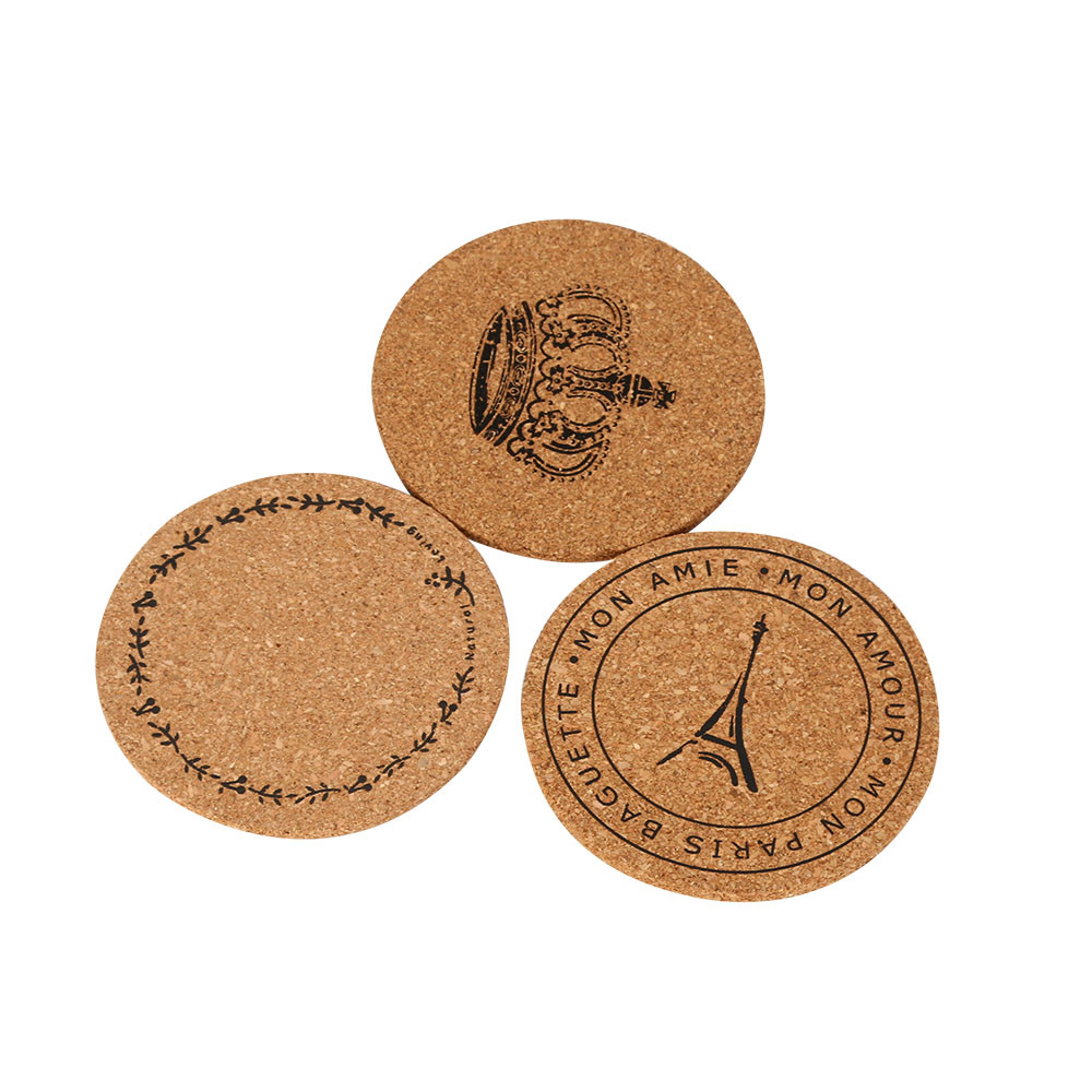 6pcs cup mat cork tea coffee drink coasters placemats soft mood tablemats round table placemat mesa - Drink Coasters