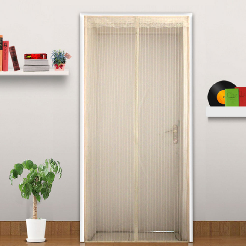 Coffee Summer Supply Mosquito Net Door Curtain Polyester Screen