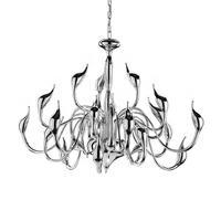LED 20W G4 Swan Design Chandelier 12 Light Modern Chrome Electricplating 110 240V 75*75*60CM living room lamp