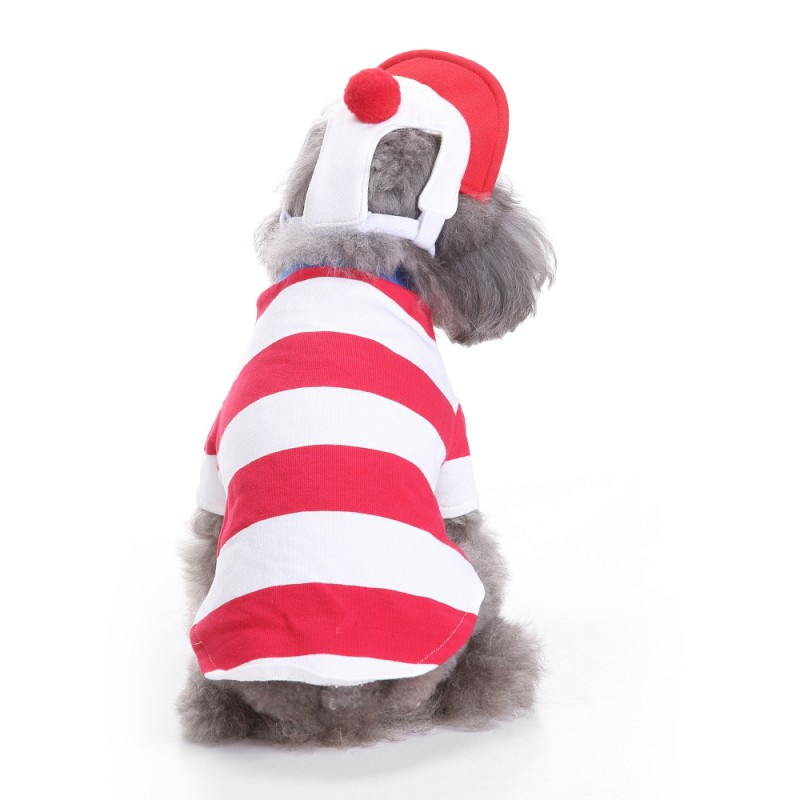 Detail Feedback Questions About Christmas Dog Clothes Baby Puppy Red White Stripe Costume Collections Holy Hound Pet Clothing On