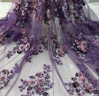 glitter sequins lace embroidery french lace classic beaded African tulle lace fabric with Appliques high quality ML7903