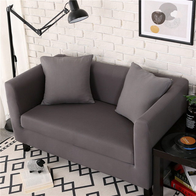 Living Room Grey Sofa Cover Slipcover Elastic All Inclusive Single Two