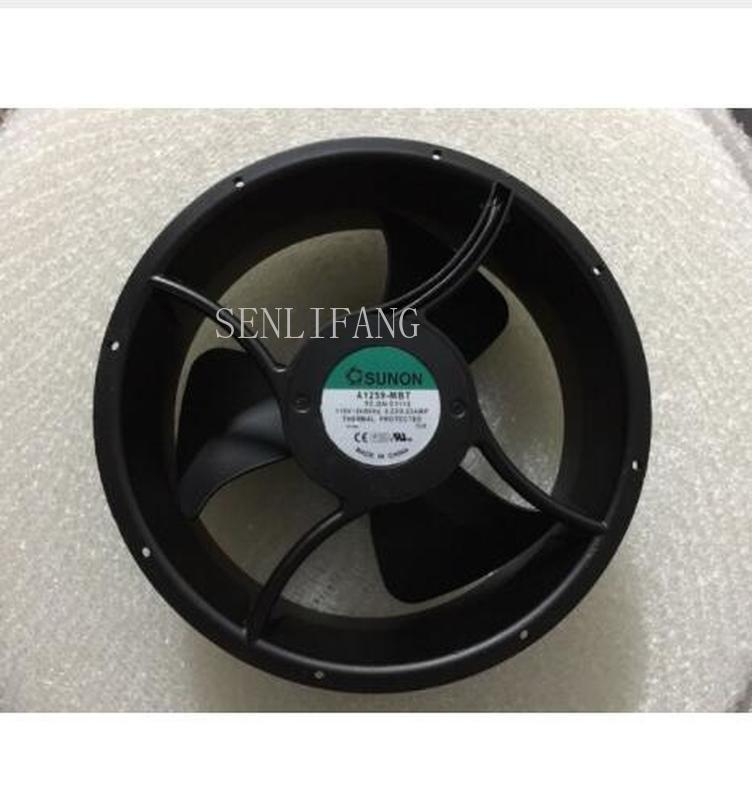 Free Shipping Original  A1259-MBT C1112 AC 115V 0.22A 254x254x89mm Server Round Cooling Fan