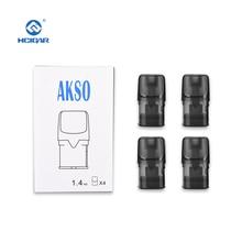 4 pieces pods for HCIGAR Akso OS kit empty pod system hcigar akso plus pod kit 850 mah built in battery