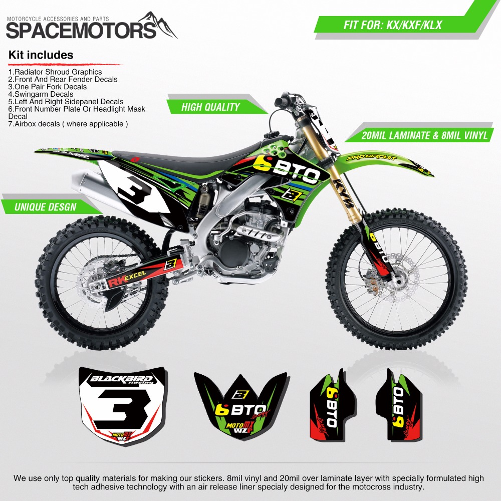 Decal Background Sticker Dual Layer Kit For Motorcycle Kx