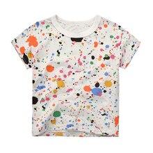 2017 Kids Boys T-Shirt Fashion Short Sleeve Brand T Shirts Summer Shirt Kid Baby Children Clothing Dinosaur Printed Tops
