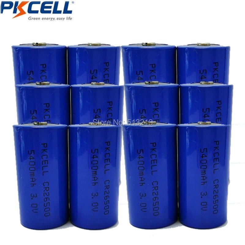 12Pcs CR26500 26500 <font><b>3V</b></font> 5400mAh Lithium <font><b>Li</b></font>/MonO2 <font><b>Batteries</b></font> C <font><b>Battery</b></font>