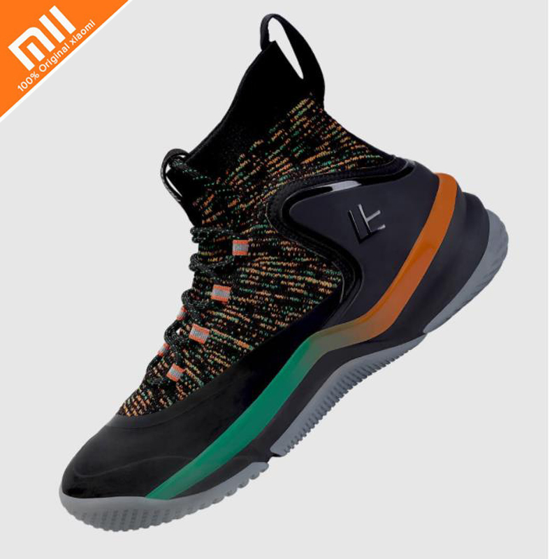 Original xiaomi mijia FREETIE hollow basketball shoes men flying woven upper heel twist proof TPU thick