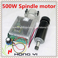 Spindle Motor 500W  ER11 chuck CNC 500W Spindle Motor + 52mm clamps + Power Supply speed governor For DIY CNC