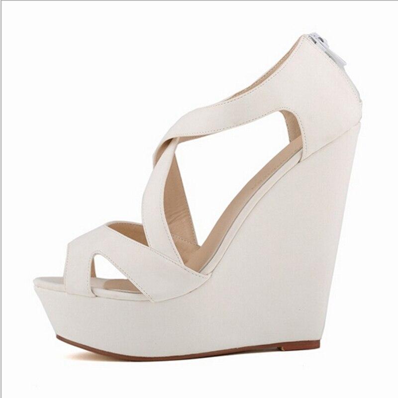 3 Flock Moda Tamaño Niza Zapatos 8 Más Verano 1 Partido 6 W862 Sexy 7 9 2 Mujeres 4 Sandalias Grueso Plataforma Señoras Tacones 5 qTFfF