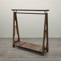 American Country Style Furniture Industry LOFT Recycling Old Fir Furniture Antique Wooden Coat Hanger