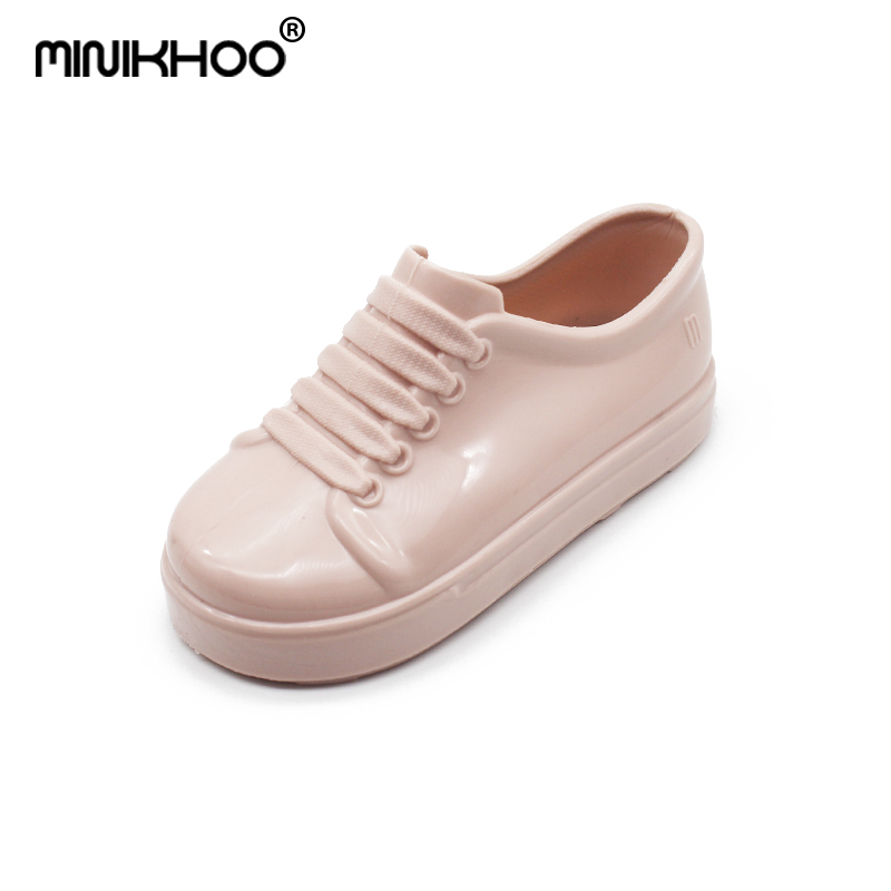 Mini Melissa 2018 New Jelly Shoes Children Candy Sports Shoes Girls Jelly Sandals Baby Sandals Solid Color Melissa Baby Shoes