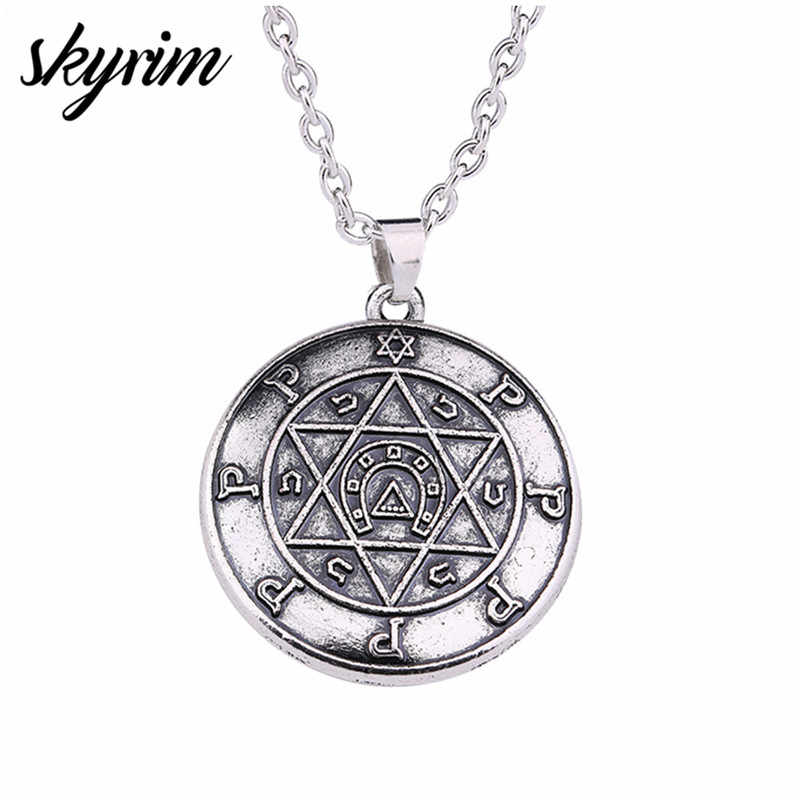 Skyrim Talisman For Performer Key of Solomon Hebrew Jewelry
