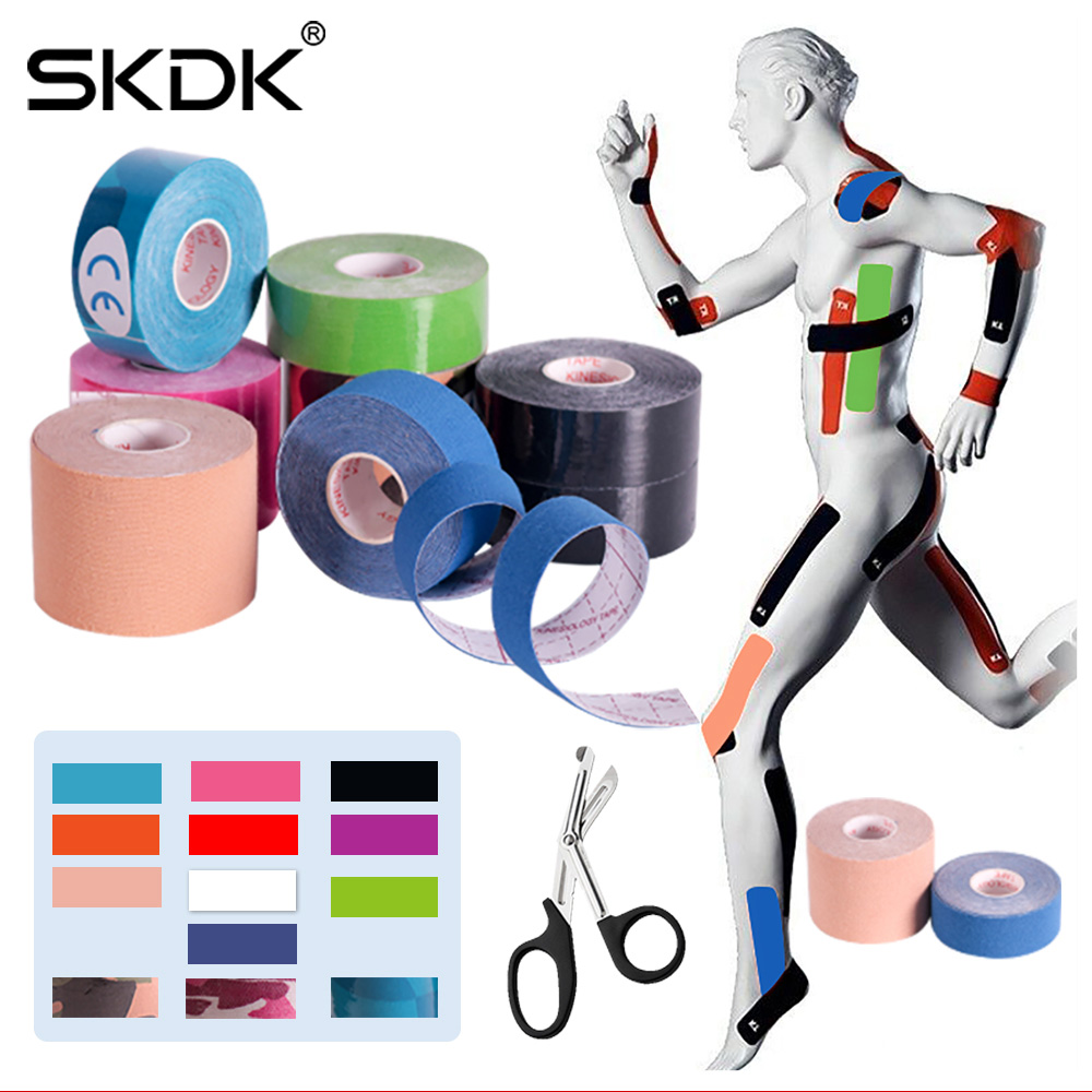 SKDK 2Size Kinesiology Tape Breathable Waterproof Athletic Recovery Sports Tape Fitness Tennis Knee Muscle Pain Relief Access(China)
