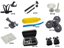 Gopro Set accessories pack:Go pro Chest harness+Anti-fog interts+Collect case+surf mount+monopole+suction cup+head strap GPK22