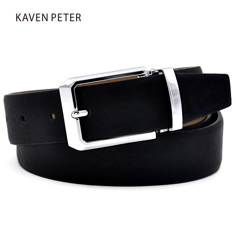 s genuine leather belt waist metal buckle belts with