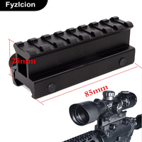 Tactical 1 Hight 14 Slot See Through Full Size AR Riser Scope Base Mount Rail 20mm
