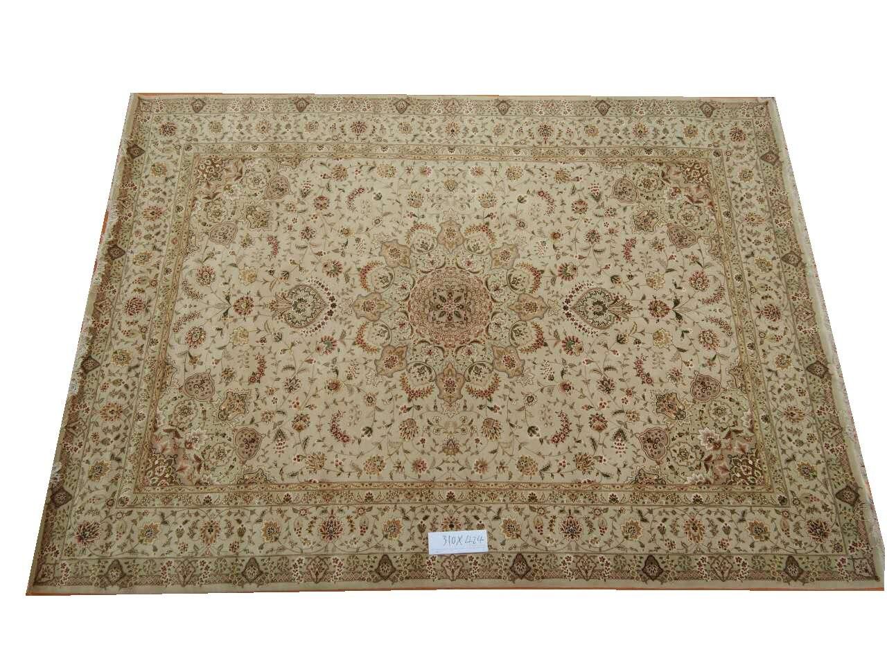 Tapis persans anciens laine et soie noués à la main tapis persan Oriental fait à la main 23 10x14gc157peryg9 tapis persans et tapis