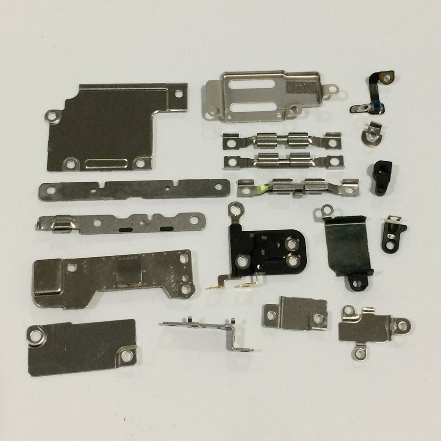 10Set/lot Full Set LCD Display Home Button Flex Cable Metal Plate Cover Bracket Inner Repair Accessories Part for iPhone 6S 4.7 image
