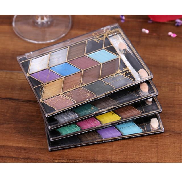 4pcs/set 16 Full Colors Earth Shimmer Pigment Glitter Eyeshadow Palette Cosmetic Makeup Set Eye Shadow Palette For Women Beauty