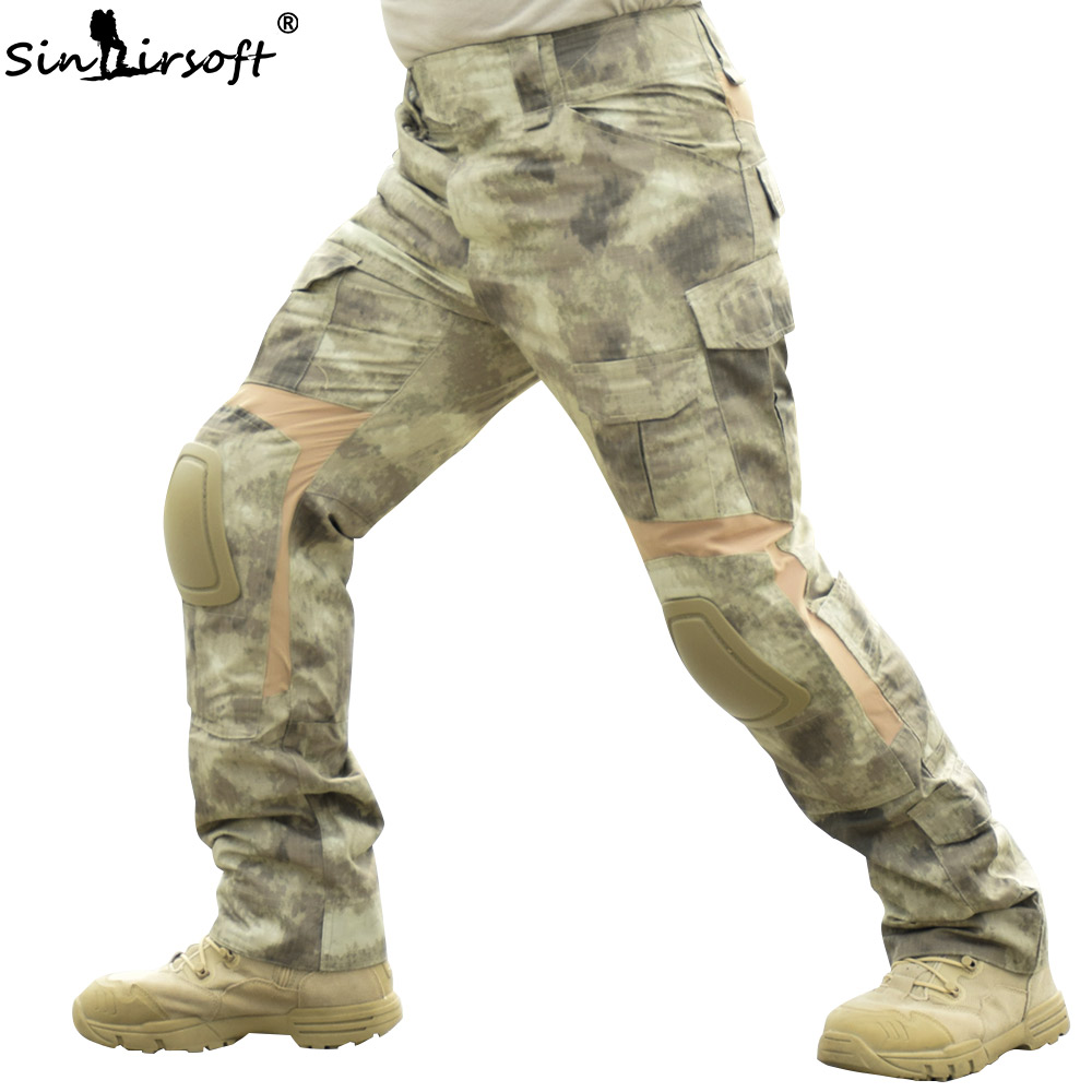 SINAIRSOFT Military Tactical Pants Paintball Hunting Army Combat Man Trousers with Knee Pads Airsoft Outdoor CS Hiking