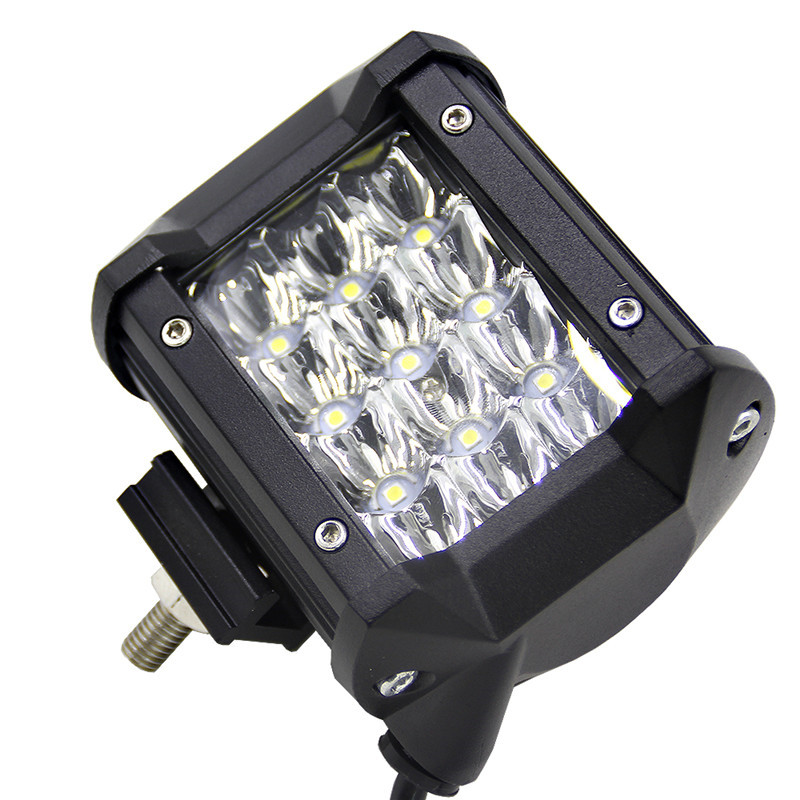 Newest 24 LED Car Fog Lamp Work Light 72W 12v Car Headlights lamps for Auto Cars 5'' Two Rows Led Strip Light Waterproof new car styling auto h4 led bulb h7 lighting car led 12v lights h4 h7 led lamps light bulbs headlights for cars led headlights