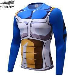 Аниме Dragon Ball Z Супер Saiyan Вегета ГОКу футболка для мужчин Dragon ball костюм косплэй фитнес под футболки homme