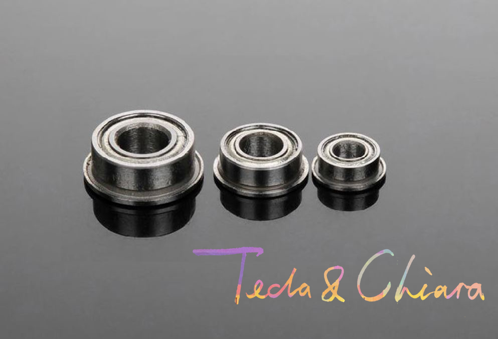10Pcs 1Lot F604 F604-ZZ F604ZZ F604-2Z F604Z Zz Z 2z Flange Flanged Deep Groove Ball Bearings 4 X 12 X 4mm