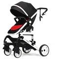 Bebé cochecito paisaje de alta carro bebe silla de ruedas de coche 2 en 1 niños bebé recién nacido cuna Cochecito de Bebé