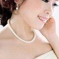 Delicado colar de jóias Clavícula Cadeia simulado grande pérola colar de jóias Das Mulheres de noiva presentes de casamento branco do sexo feminino