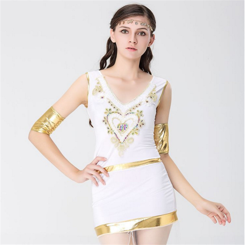 high quality Sexy white Roman Princess Costume Greek Goddess Cosplay Athena Egypt queen Party Dress cleopatra clothing Halloween