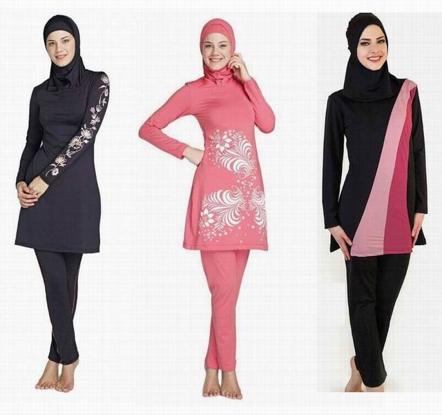 257c62ff659e Hijab islamic swimsuit modest girls muslim swimwear arabic women plus size  clothing full cover bathing suit