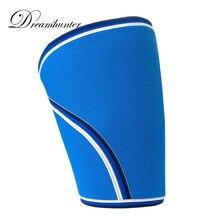 1 PCS Neoprene Men Sports Knee Protectors Supports 7mm Weightlifting Crossfit Powerlifting Strongman Knee Sleeves