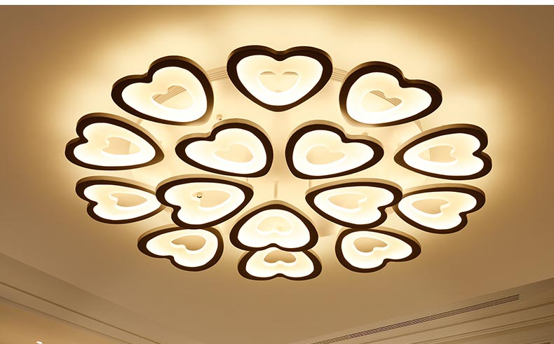 Moderne herz geformt acryl decke lampe schlafzimmer küche wohnzimmer