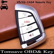 Tamaño Original 4 Botones FOB Remoto de Entrada Sin Llave Coche Clave Remoto clave Shell Ajuste Para BMW F CAS4 5,7 Series