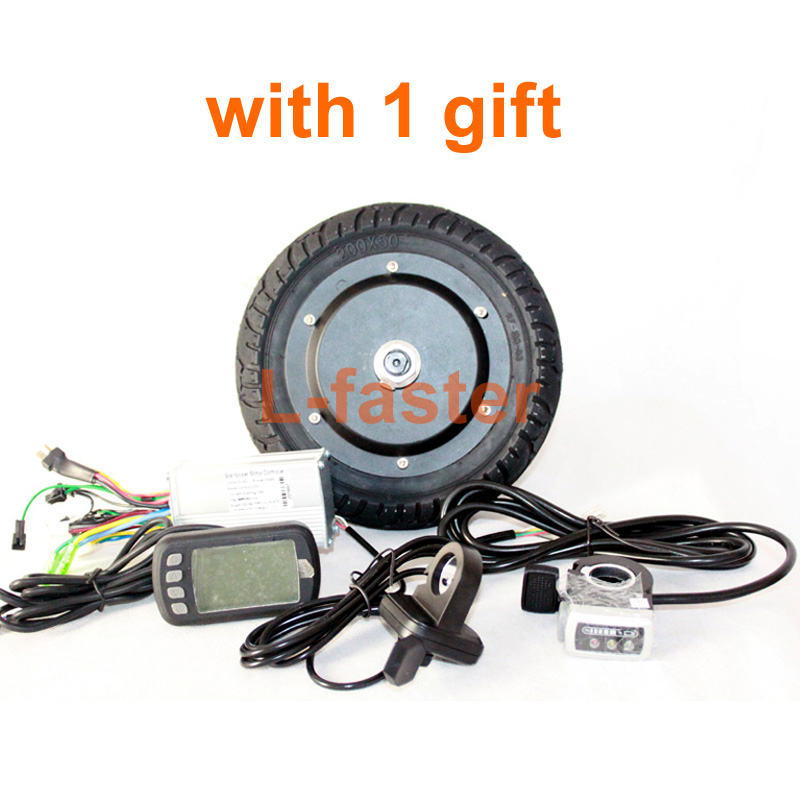 36V 350W 8 INCH ELECTRIC SCOOTER BRUSHLESS HUB MOTOR KIT CAN WITH LCD DISPLAY WUXING THROTTLE