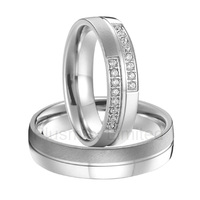 Alliance China factory one pair love couples wedding rings titanium steel jewelry