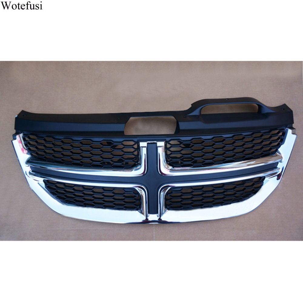 Wotefusi New ABS Front Centre Grille Mesh Grill Cover For Dodge Journey 2011 2012 2013 2014