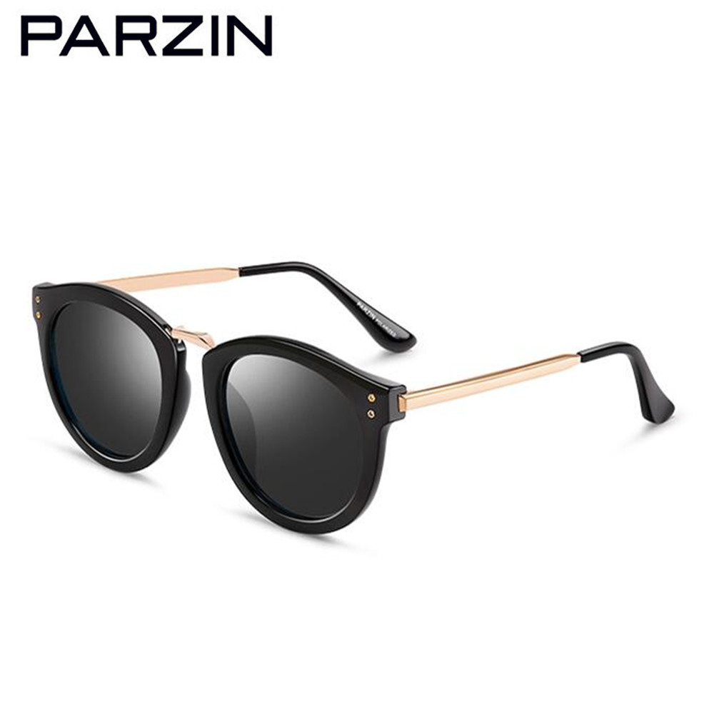 PARZIN Polarized Sunglasses Women Brand Designer Vintage Female Sun Glasses  Big Frame Driving Sunglasses Shades With Case 9555