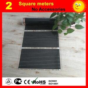 2 квадратных метра под полом нагревательная пленка, ac220в напольная нагревательная пленка 220 Вт на квадратный метр