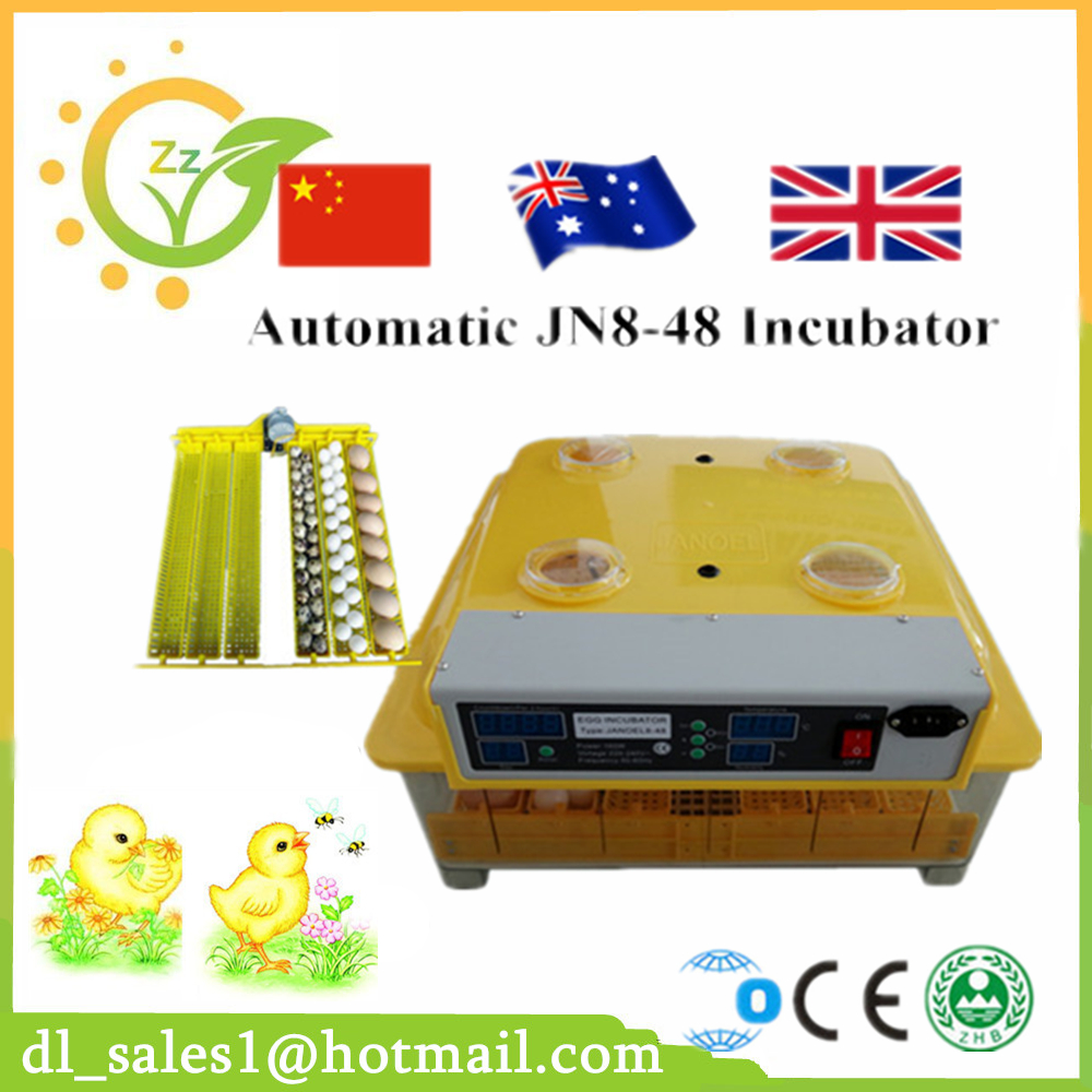 Brand New 48 Eggs Incubator Automatic Chicken Egg Incubator Poultry Hatcher Machine 48 eggs incubator full automatic incubator chicken egg incubator dl a8 free shipping