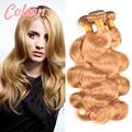 Filipino Virgin Hair Body Wave 7A Blonde Weave Remy Hair Bundles Blonde Virgin Hair Coleen Blonde Bundles #27 Blonde Human Hair