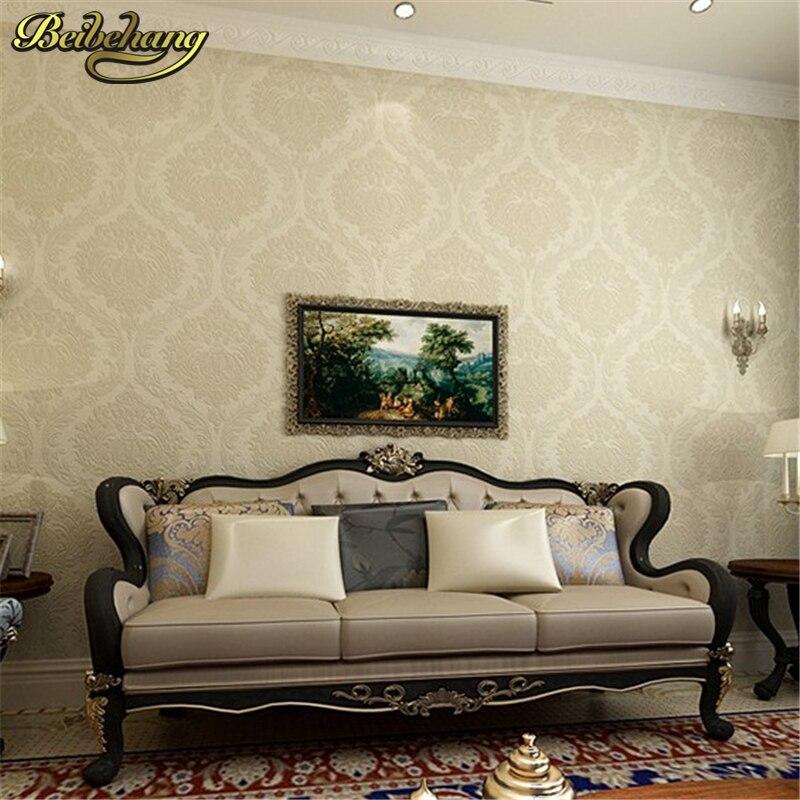 US $31.36 44% OFF|Beibehang 3D Stereo Continental Luxus Damaskus Tapete  Wohnzimmer TV Hintergrund Schlafzimmer Grüne Wand papier papel de parede  3d-in ...