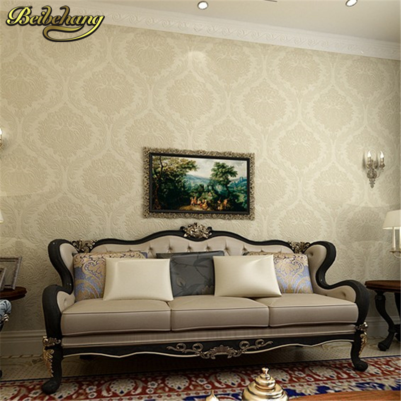 beibehang 3D Stereo Continental Luxury Damascus Wallpaper Living Room TV Backdrop Bedroom Green Wall paper papel de parede 3d book knowledge power channel creative 3d large mural wallpaper 3d bedroom living room tv backdrop painting wallpaper